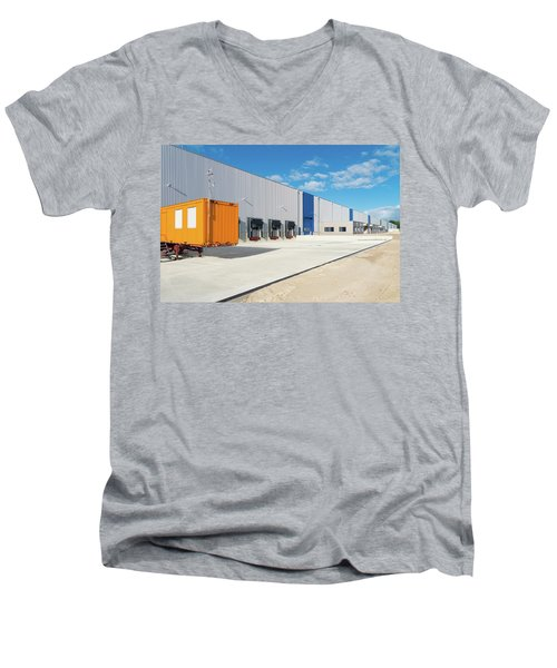 Warehouse Exterior Men's V-Neck T-Shirt by Hans Engbers