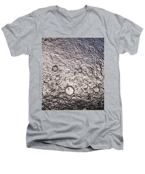 Water Abstraction - Liquid Metal Men's V-Neck T-Shirt