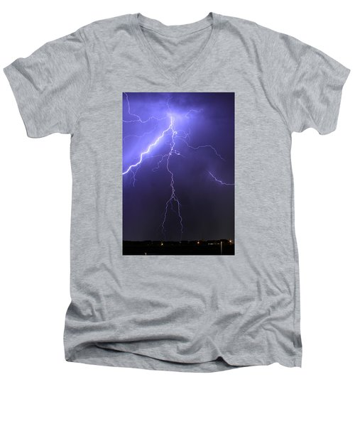 West Jordan Lightning 4 Men's V-Neck T-Shirt