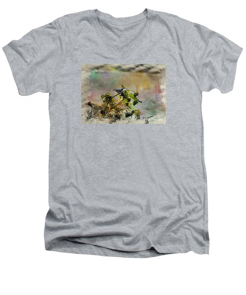 White Breasted Nuthatch Men's V-Neck T-Shirt by Yumi Johnson