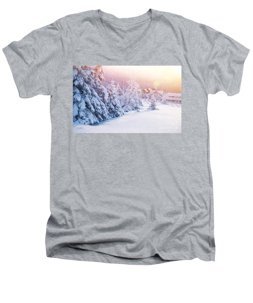 Winter Resort Men's V-Neck T-Shirt