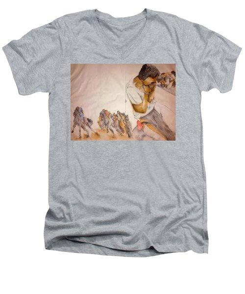 Il Palio Contrada  Lupa Album Men's V-Neck T-Shirt