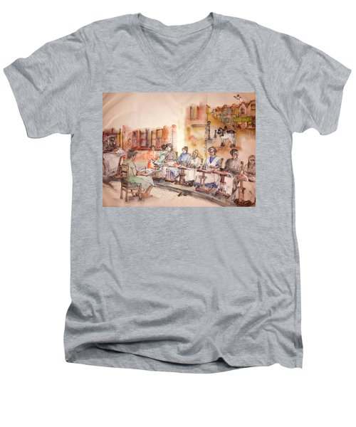 Of Clogs And Windmills Album Men's V-Neck T-Shirt by Debbi Saccomanno Chan