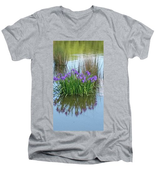 Iris Men's V-Neck T-Shirt by Sobajan Tellfortunes