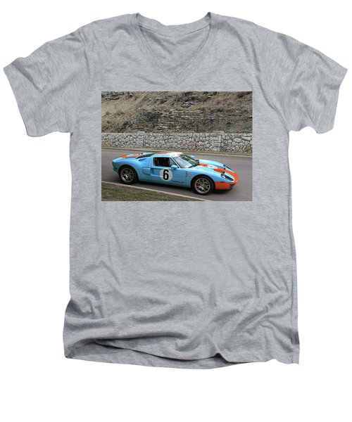Men's V-Neck T-Shirt featuring the photograph 2006 Ford Gt  by Christopher McKenzie