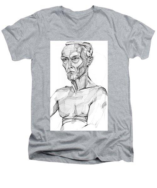 20140117 Men's V-Neck T-Shirt