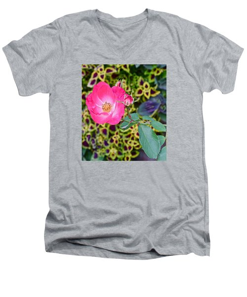 2015 Fall Equinox At The Garden Hello Fall Men's V-Neck T-Shirt