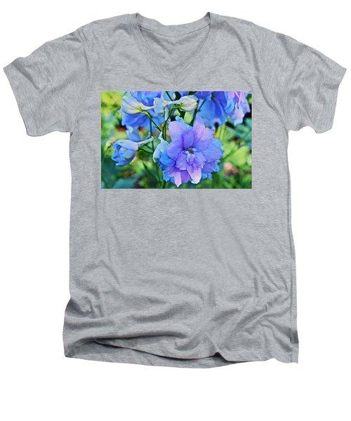 2015 Mid September At The Garden Larkspur 2 Men's V-Neck T-Shirt