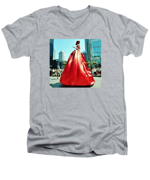 2015 Montreal Lgbta Parade  Men's V-Neck T-Shirt by Reb Frost