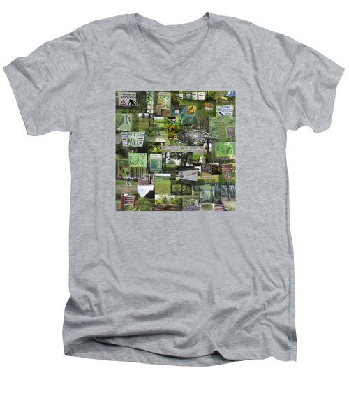 2015 Pdga Amateur Disc Golf World Championships Photo Collage Men's V-Neck T-Shirt by Robert Glover