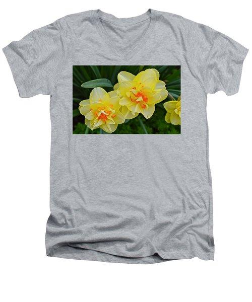 2015 Spring At The Gardens Tango Daffodil Men's V-Neck T-Shirt