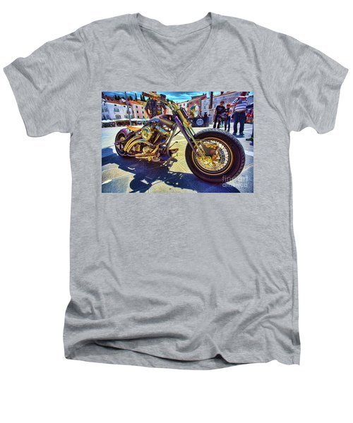 2016 Custom Harley Winner Men's V-Neck T-Shirt