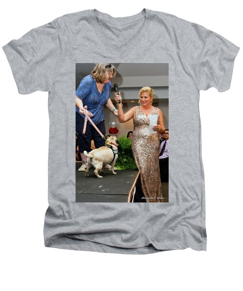 Men's V-Neck T-Shirt featuring the photograph 20160806-dsc03993 by Christopher Holmes