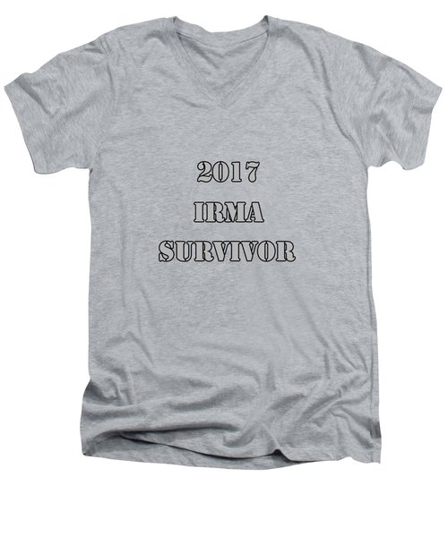 2017 Irma Survivor Men's V-Neck T-Shirt