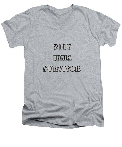 2017 Irma Survivor Men's V-Neck T-Shirt