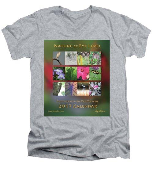 2017 Nature Calendar Men's V-Neck T-Shirt by Peg Toliver