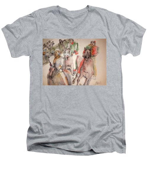 Il Palio Contrada  Lupa Album Men's V-Neck T-Shirt by Debbi Saccomanno Chan