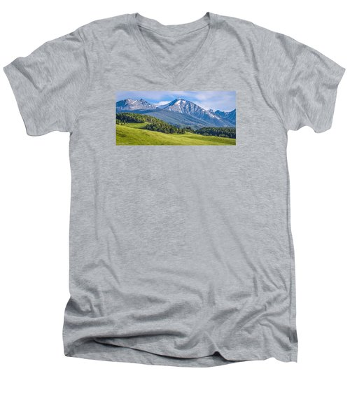 #215 - Spanish Peaks, Southwest Montana Men's V-Neck T-Shirt