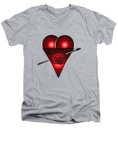 21st Century Love Heart  Men's V-Neck T-Shirt by Tom Conway