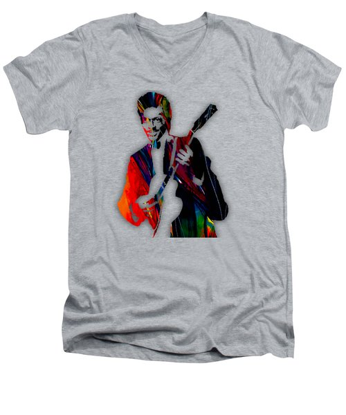 Chuck Berry Collection Men's V-Neck T-Shirt by Marvin Blaine