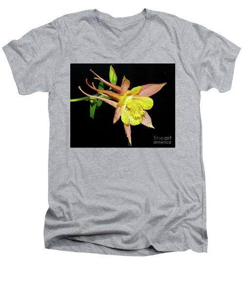 Spring Flower Men's V-Neck T-Shirt by Elvira Ladocki