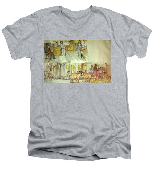 the ole' West my way album Men's V-Neck T-Shirt by Debbi Saccomanno Chan