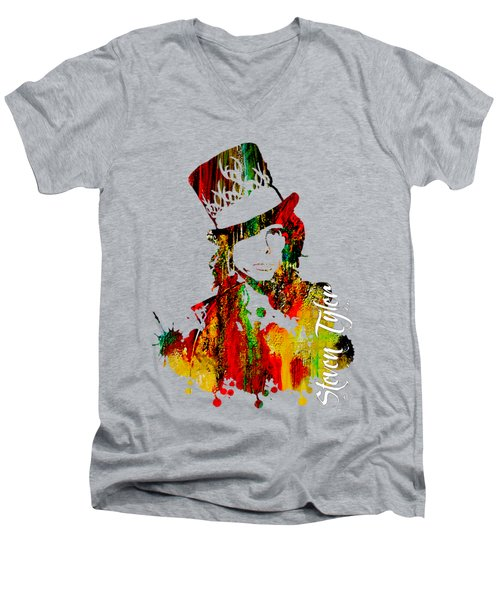 Steven Tyler Collection Men's V-Neck T-Shirt by Marvin Blaine