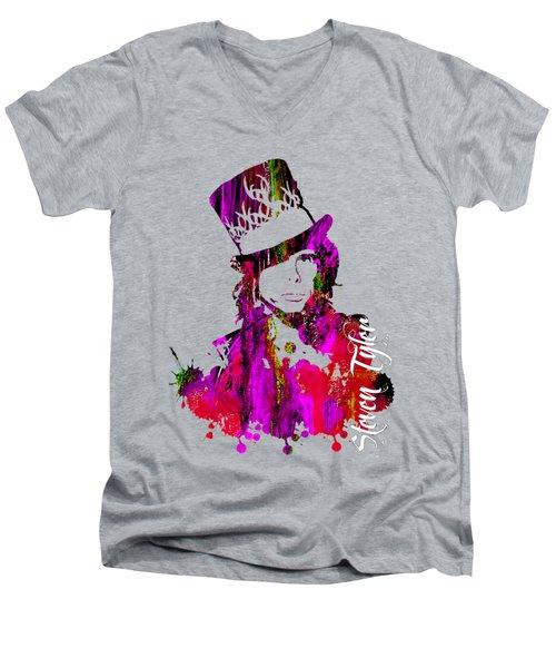 Steven Tyler Collection Men's V-Neck T-Shirt