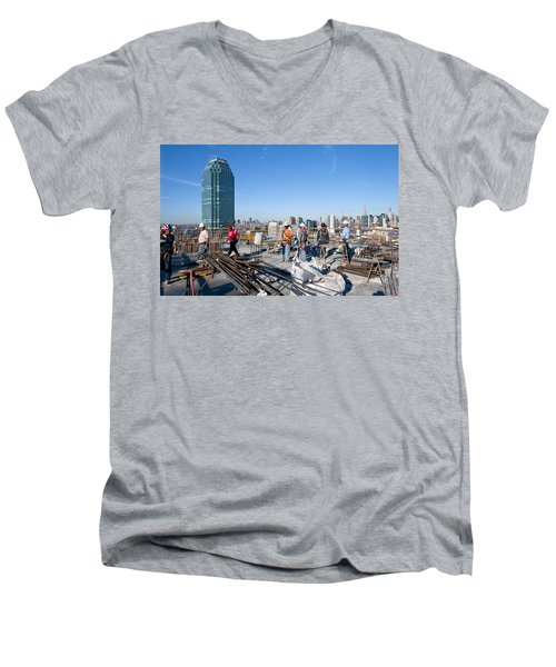 27th Street Lic 3 Men's V-Neck T-Shirt