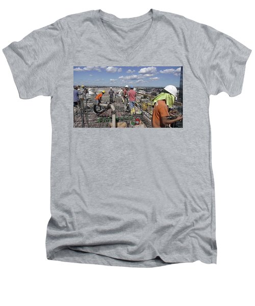 27th Street Lic 5 Men's V-Neck T-Shirt