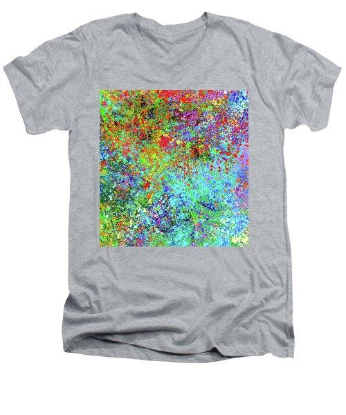Abstract Composition Men's V-Neck T-Shirt by Samiran Sarkar