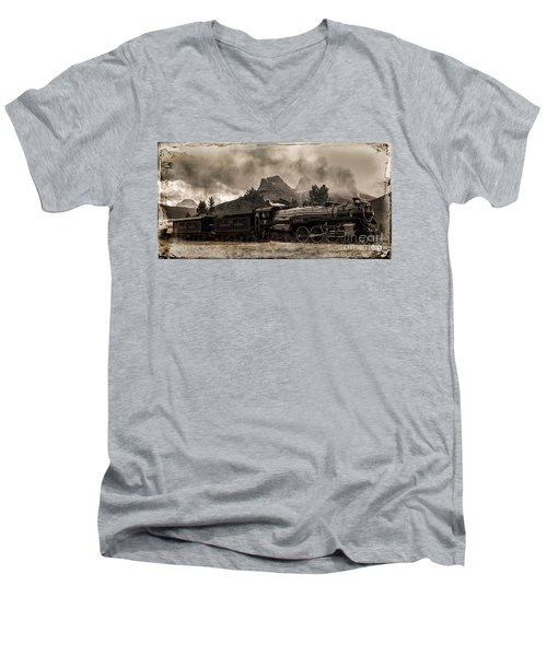 2816 Empress At Three Sisters - Canmore Men's V-Neck T-Shirt