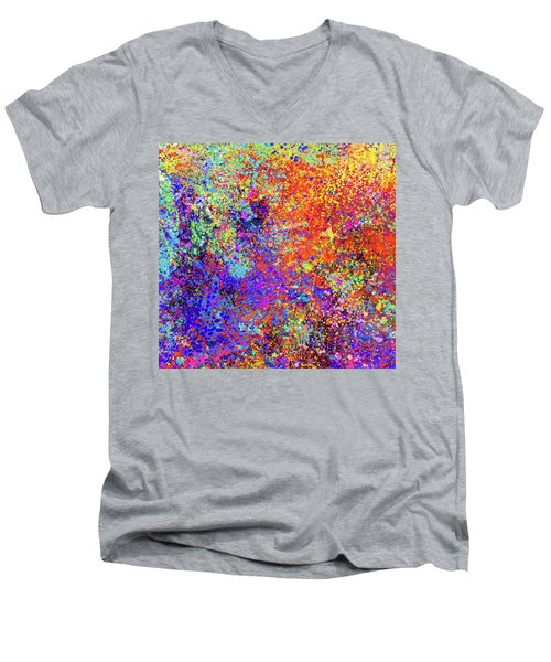 Abstract Composition Men's V-Neck T-Shirt
