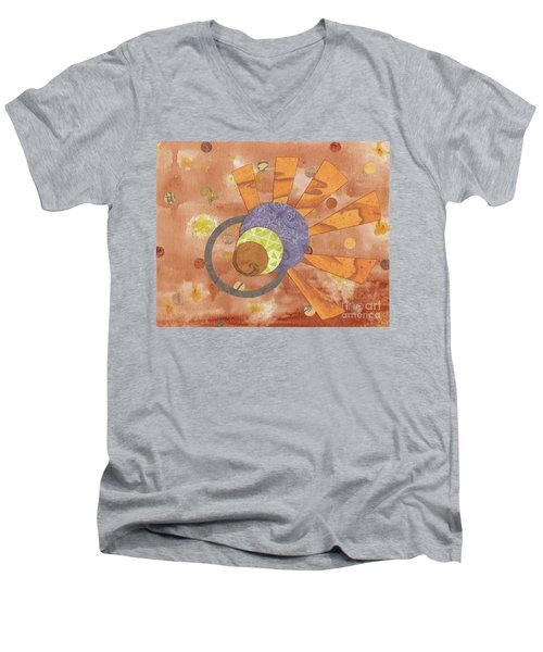 Men's V-Neck T-Shirt featuring the mixed media 2life by Desiree Paquette
