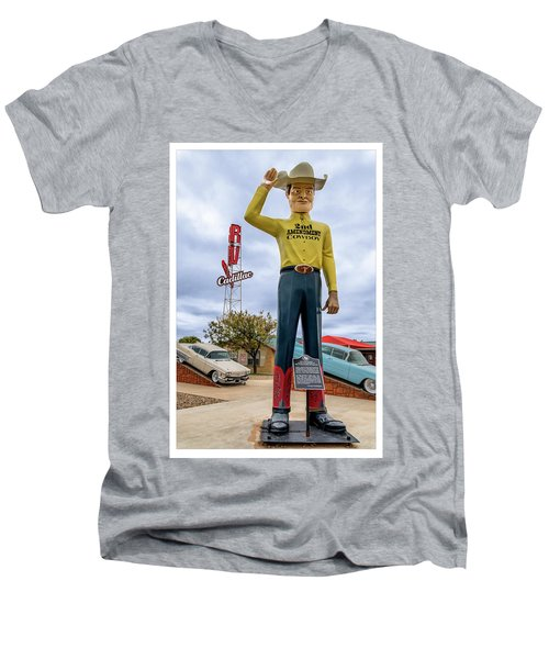 2nd Amendment Cowboy Men's V-Neck T-Shirt