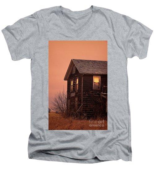 Men's V-Neck T-Shirt featuring the photograph Abandoned House by Jill Battaglia