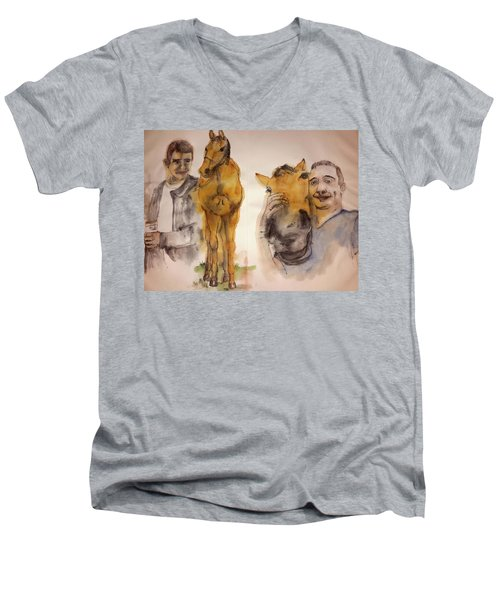 American Pharaoh Abum Men's V-Neck T-Shirt by Debbi Saccomanno Chan