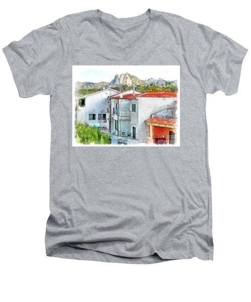 Arzachena Urban Landscape Men's V-Neck T-Shirt