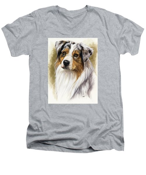 Australian Shepherd Men's V-Neck T-Shirt