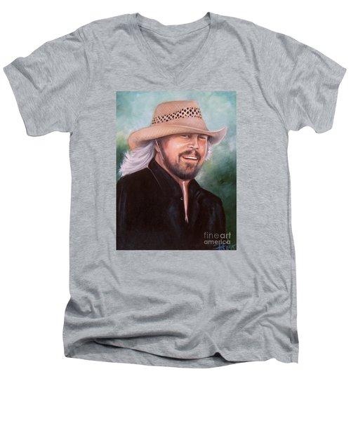 Barry Gibb Men's V-Neck T-Shirt by Patrice Torrillo