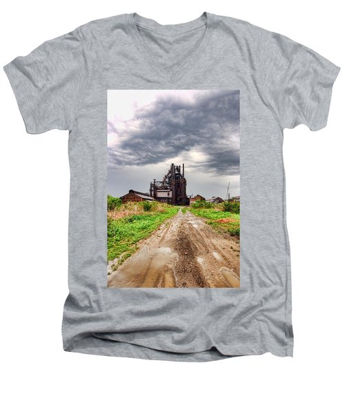 Bethlehem Steel Men's V-Neck T-Shirt by Michael Dorn