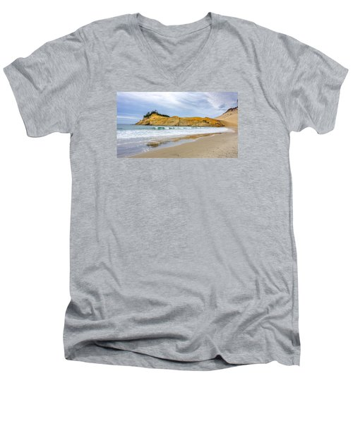Men's V-Neck T-Shirt featuring the photograph Cape Kiwanda by Jerry Cahill