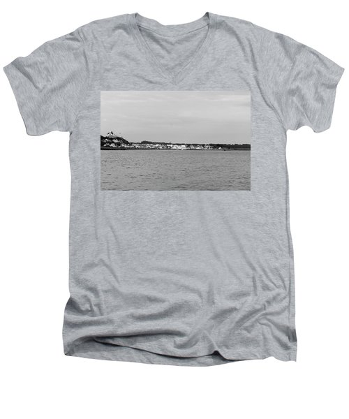 Coastline At Molle In Sweden Men's V-Neck T-Shirt