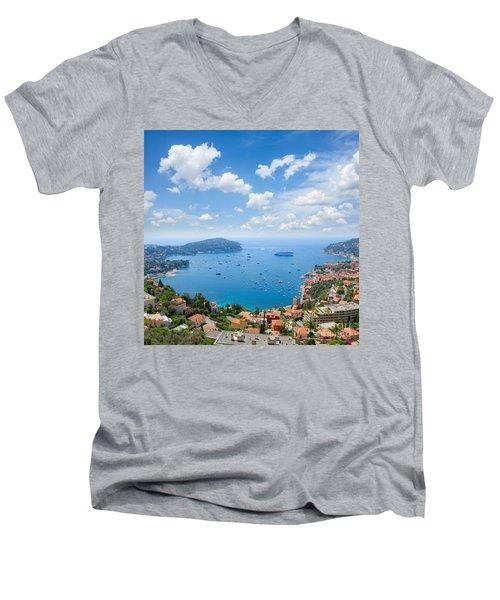 cote dAzur, France Men's V-Neck T-Shirt by Anastasy Yarmolovich