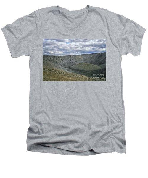 Crater Men's V-Neck T-Shirt by Patricia Hofmeester