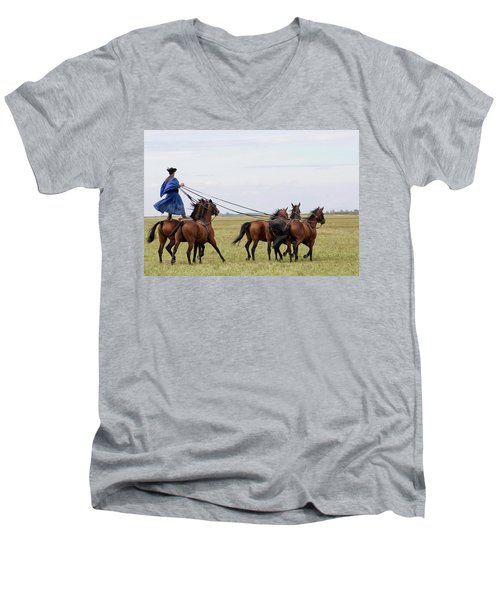 Csiko Rider Men's V-Neck T-Shirt