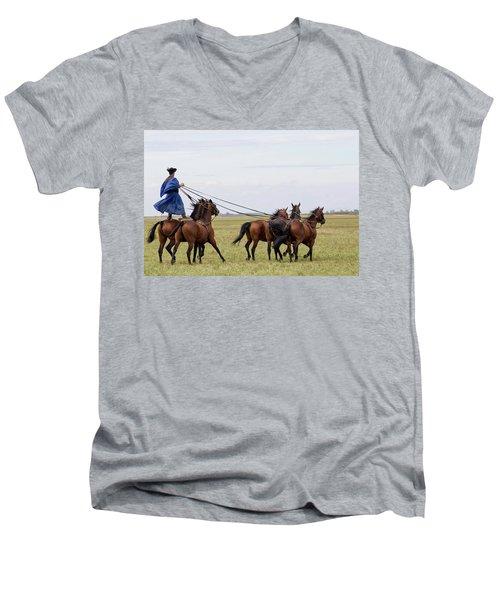 Csiko Rider Men's V-Neck T-Shirt