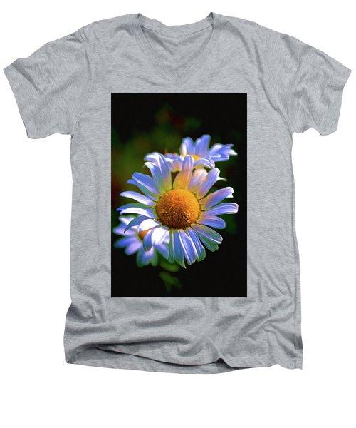 Daisy Men's V-Neck T-Shirt by Andre Faubert
