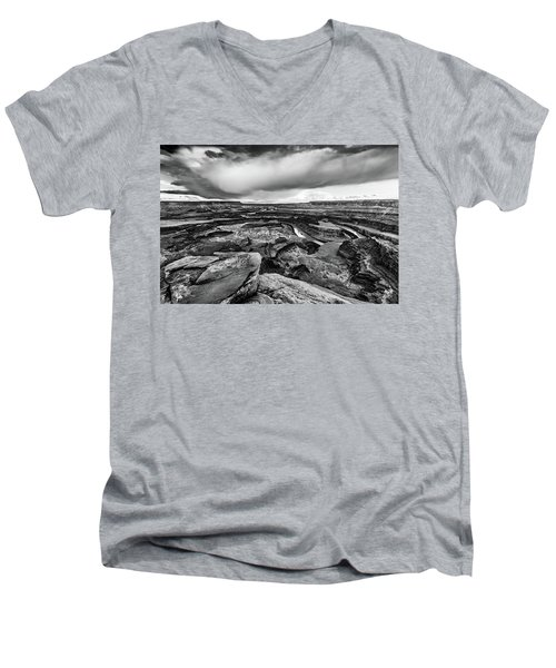 Men's V-Neck T-Shirt featuring the photograph Dead Horse Point by Jay Stockhaus