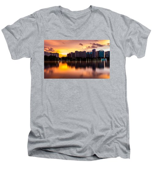 Downtown Orlando Men's V-Neck T-Shirt